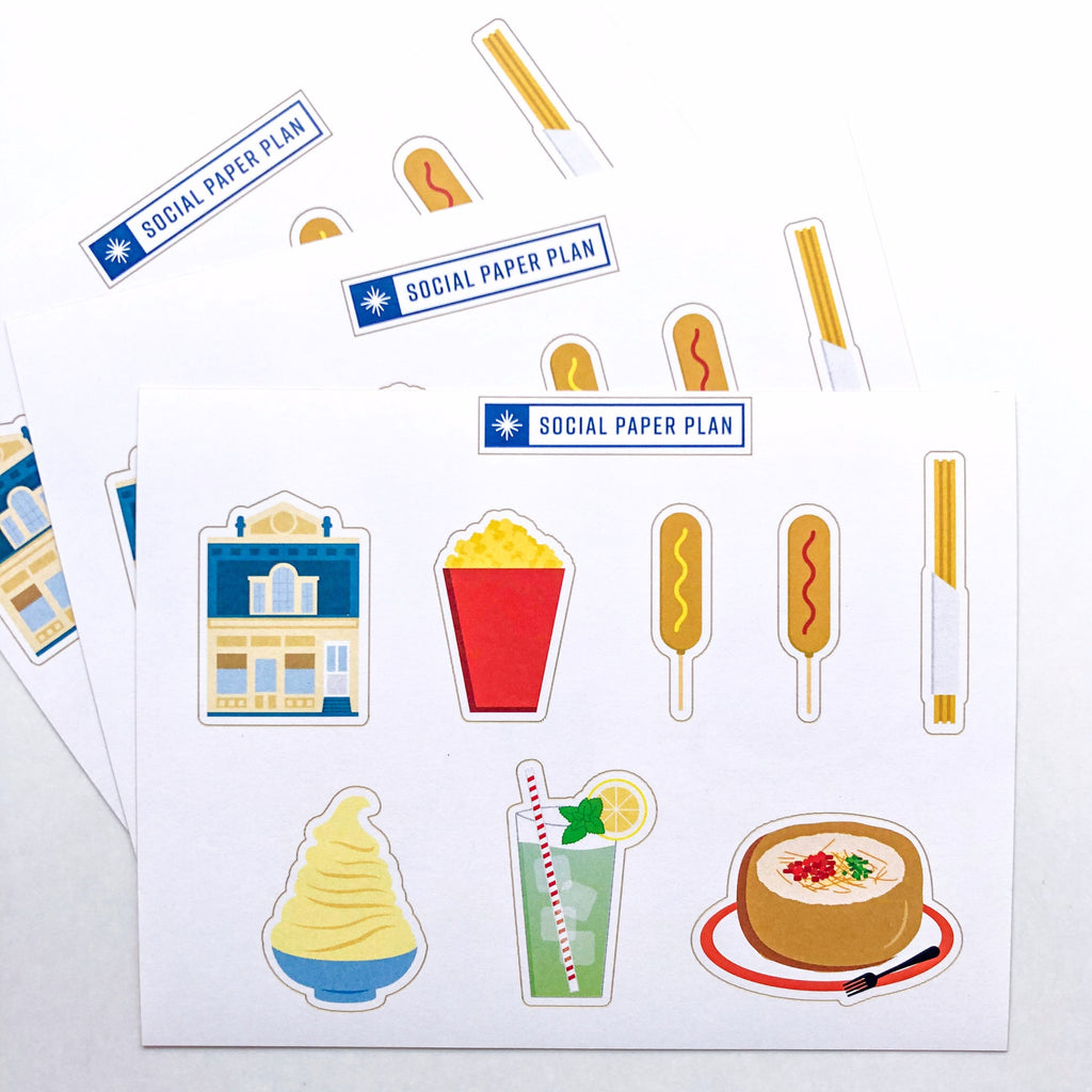 Park Day Snacks Sticker Sheet