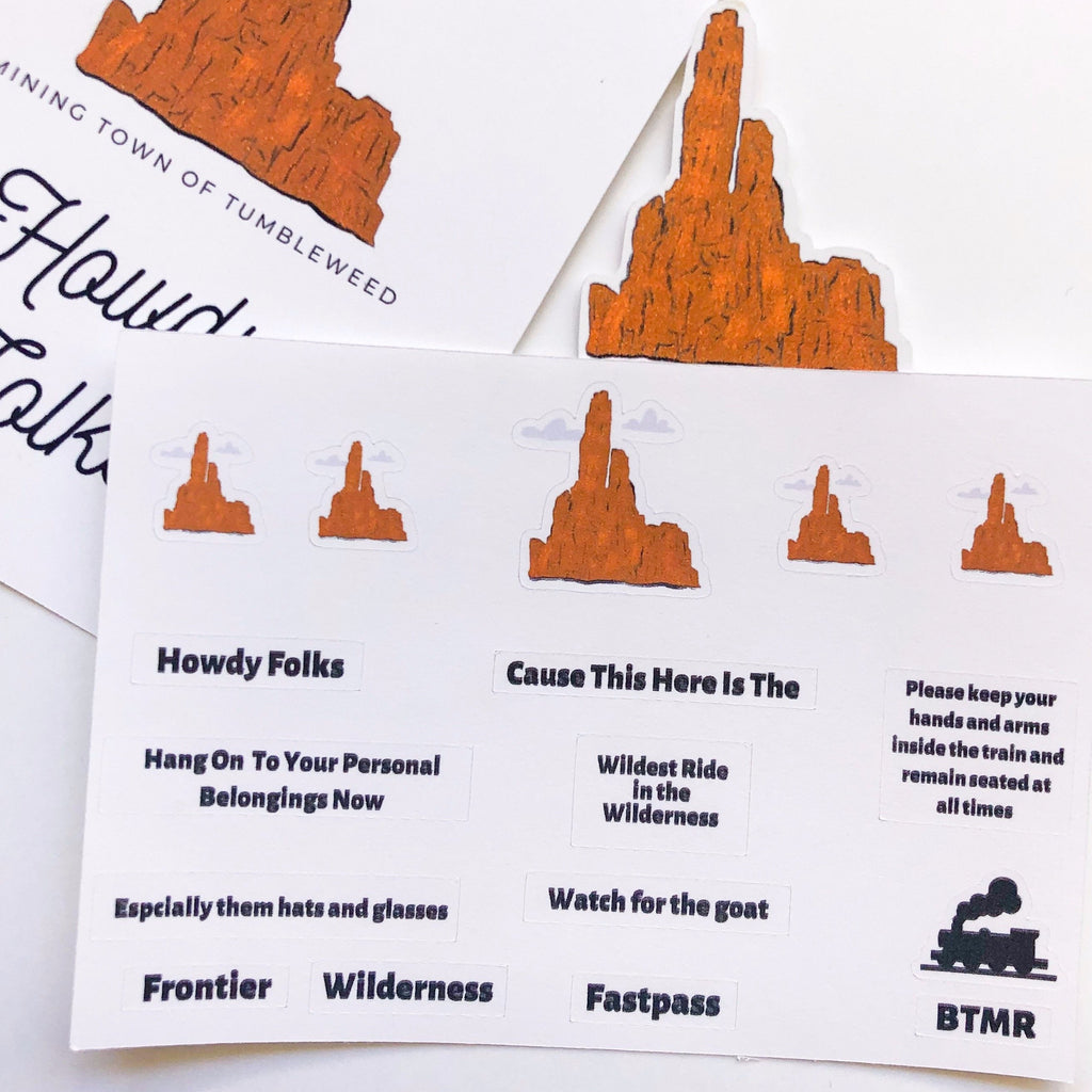 Wilderness Mountain Railroad Sticker Sheet