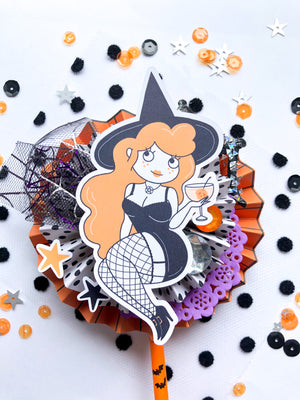 "Moons and Brooms Halloween Ephemera Paper Pack ""Feelin' Witchy"""