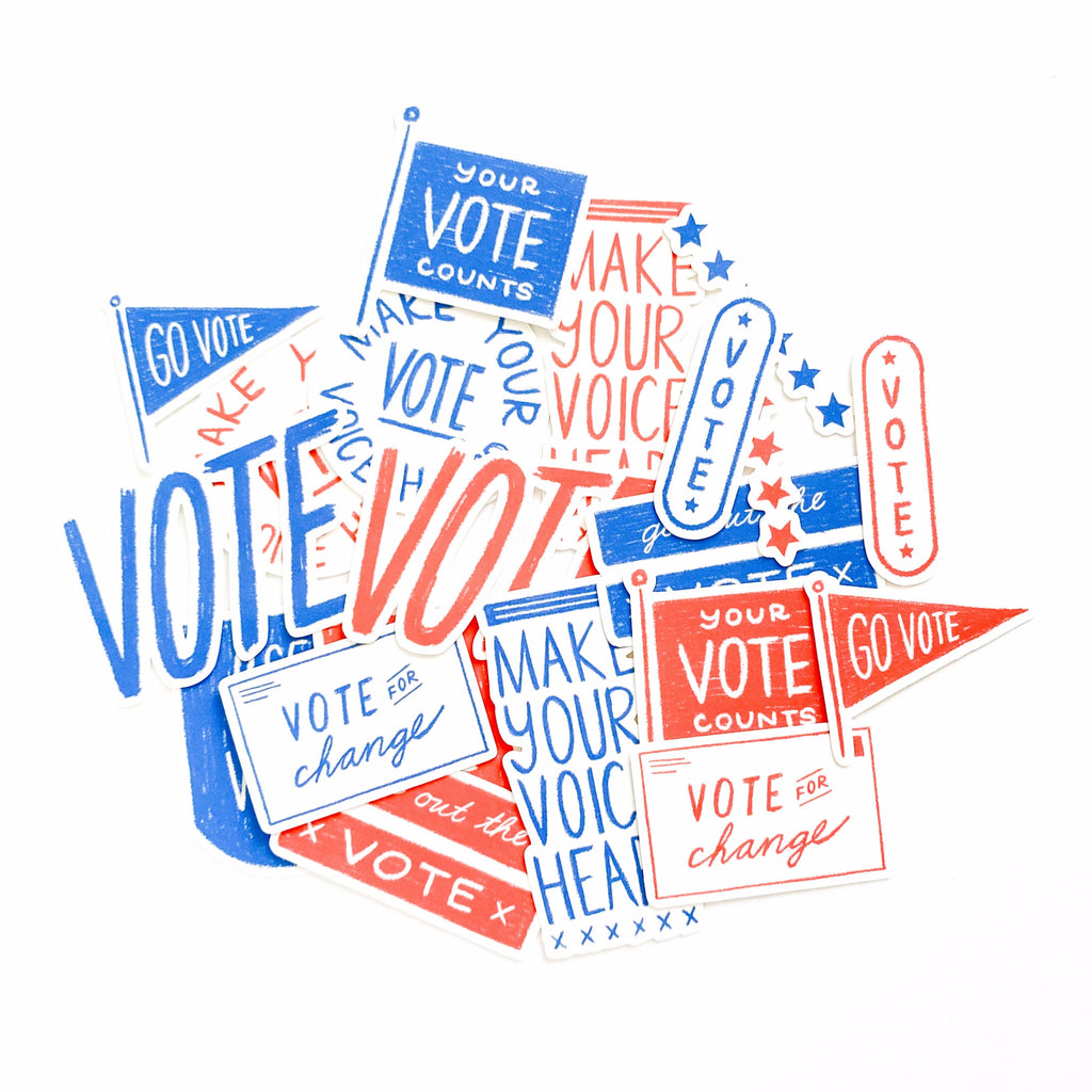VOTE themed Paper Ephemera