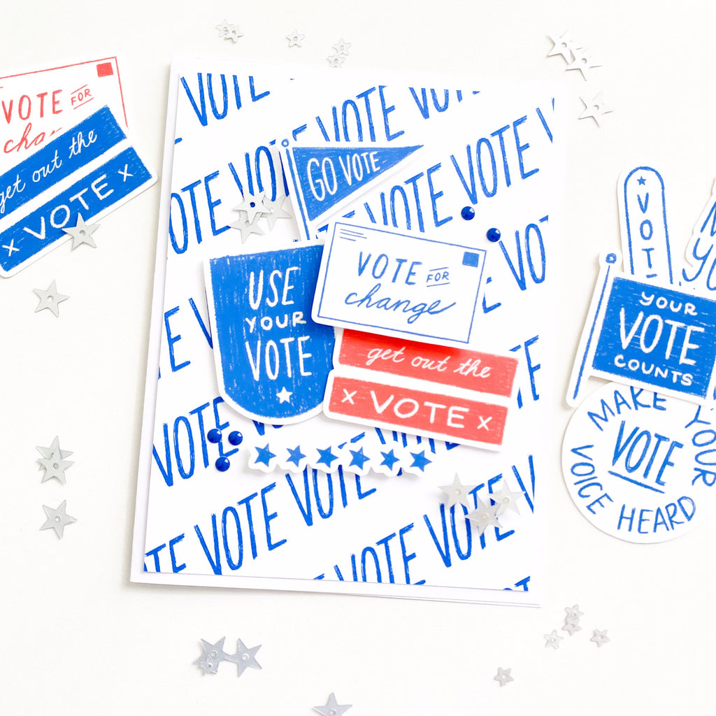 VOTE Double sided Patterned Paper Pack
