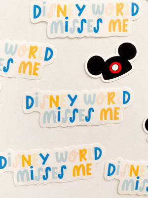 Disney Misses Me Clear Sticker