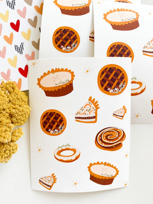 Fall Pie Making Sticker Sheet