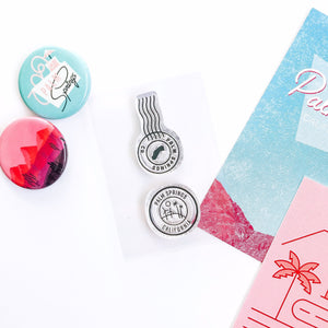 Palm Springs Postage Mark  stamp set. Perfect for bullet journals, memory keeping, scrapbooking, planning, and other paper crafts!