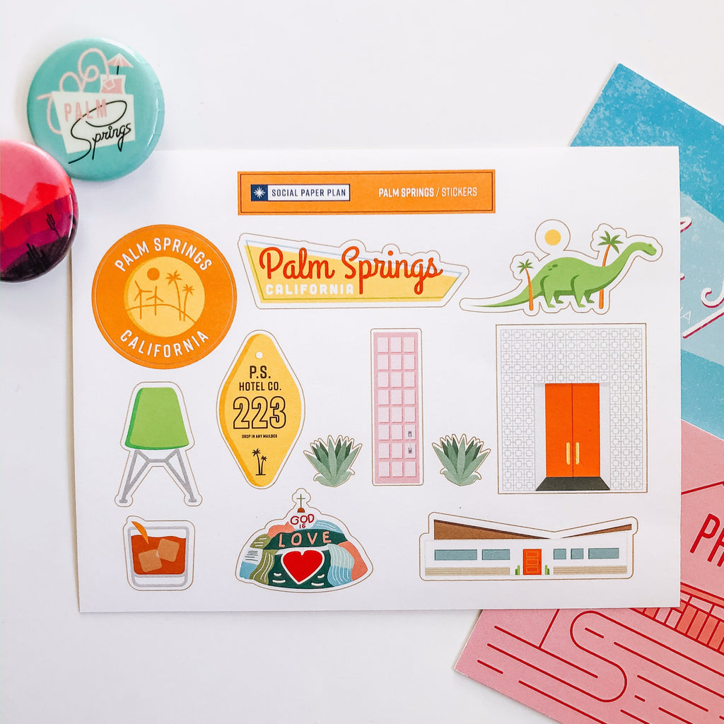Palm Springs Sticker Sheet