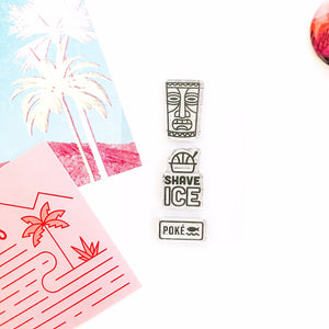 Hawaii Its Shave Ice Stamp Set