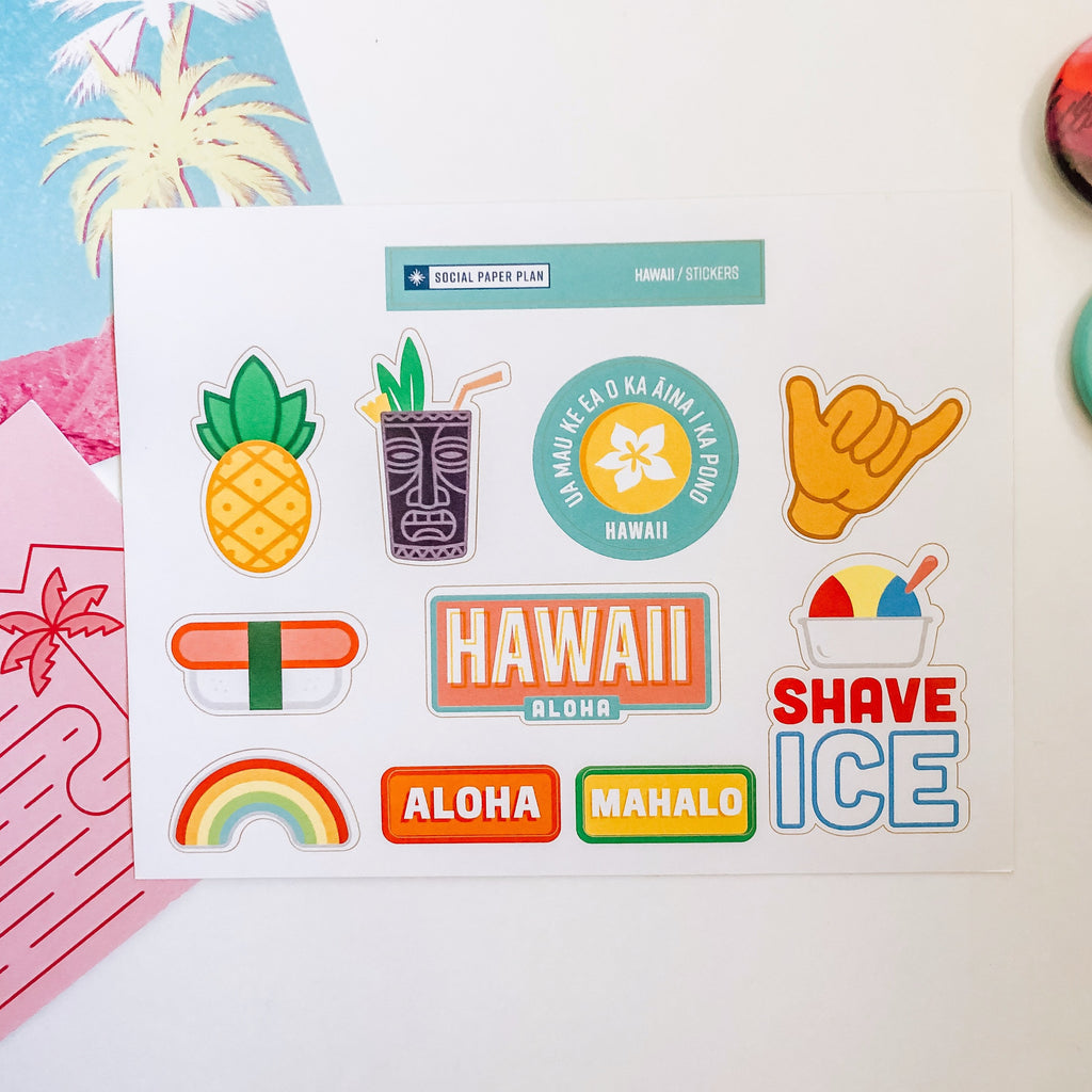 Hawaii Sticker Sheet