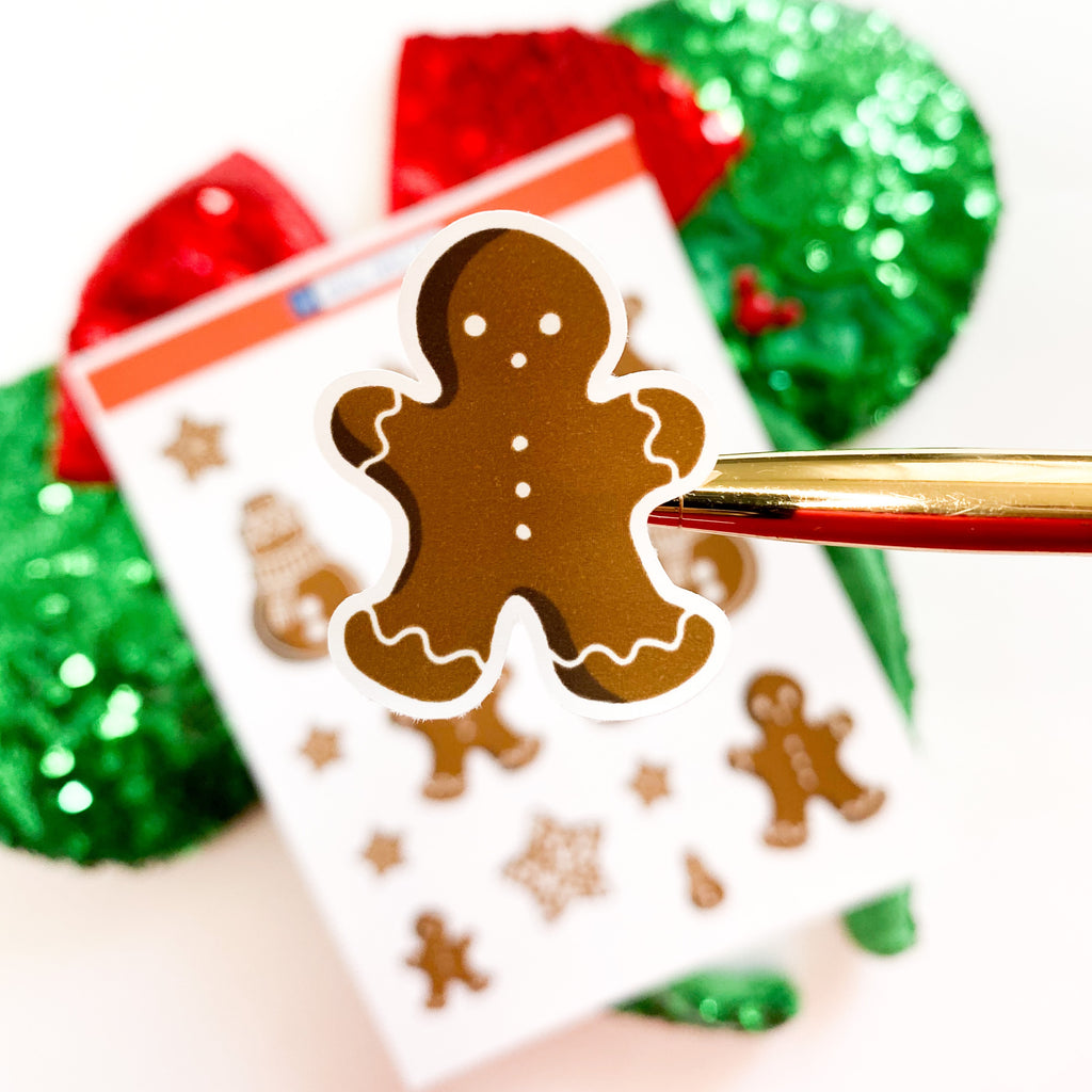 Gingerbread Cookie Sticker Sheet