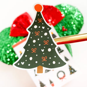 Christmas Trees and Wreaths Sticker Sheet