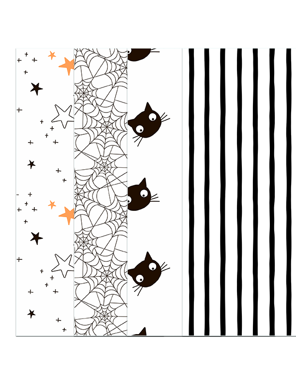 Moons and Brooms DIGITAL Halloween Paper Pack Number 1