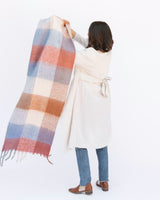 oversized cozy plaid tassel plush scarf