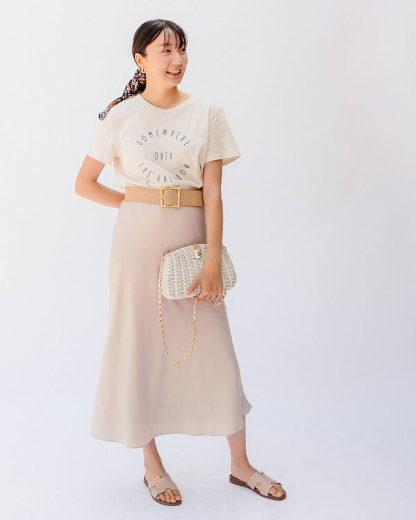4abe5570cf high waist satin ivory midi skirt high waist satin ivory midi skirt