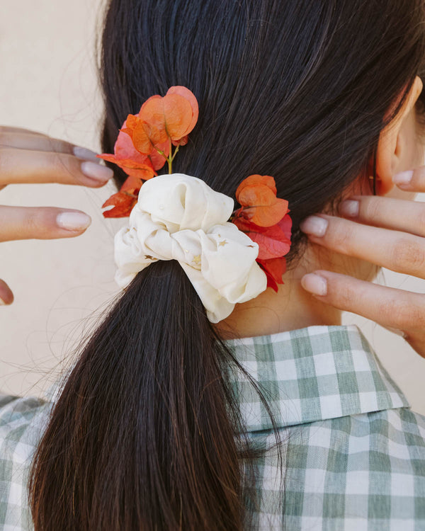 white constellation star scrunchie