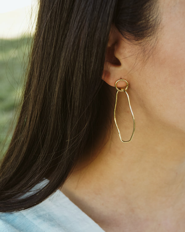 modern contour line earrings