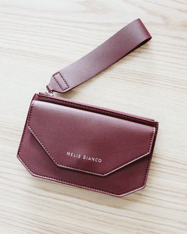 burgundy wine red wristlet wallet purse