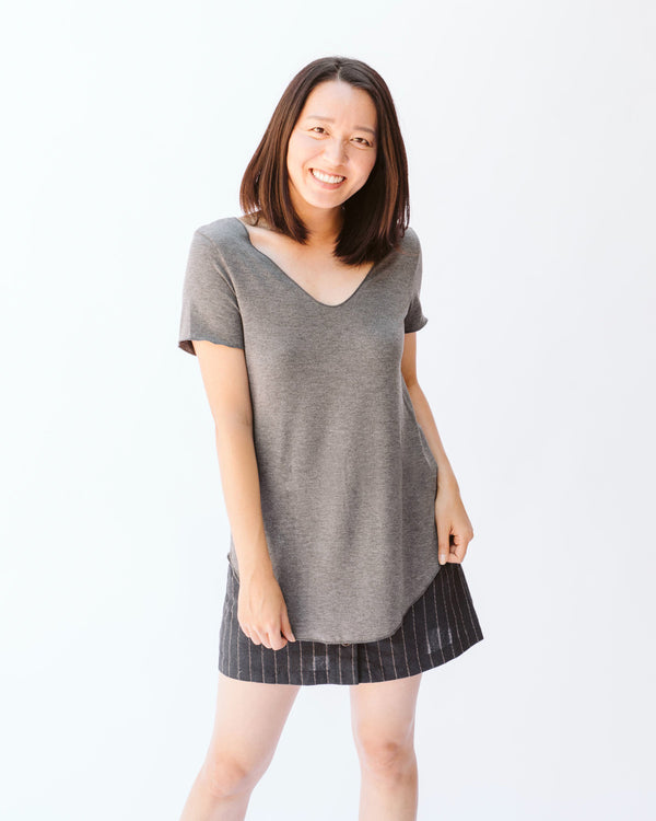 Jane Charcoal Top