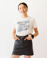 soft don't quit your daydream cherub angel graphic tee