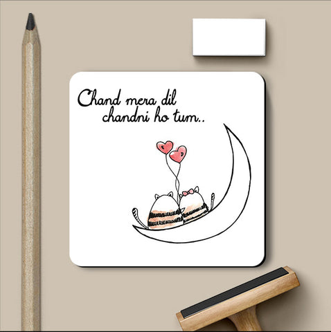 PosterGully Coasters, Chand ki Chandni Love Art | Simran Anand Coaster, - PosterGully