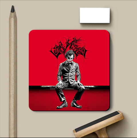 PosterGully Coasters, Joker Raj Khatri Artwork Coaster, - PosterGully