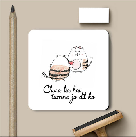 PosterGully Coasters, Dil ki Chori Love Art | Simran Anand Coaster, - PosterGully