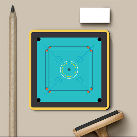 PosterGully Coasters, Carom Indoor Games Coaster, - PosterGully