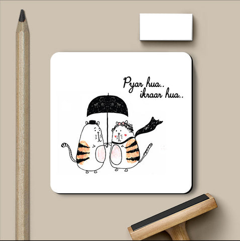 PosterGully Coasters, Ikraar Hua Love Art | Simran Anand Coaster, - PosterGully