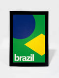 Glass Framed Posters, Brazil Soccer Team #footballfan Glass Framed Poster, - PosterGully - 1
