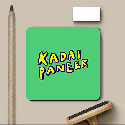 PosterGully Coasters, Kadai Paneer Food Coaster, - PosterGully