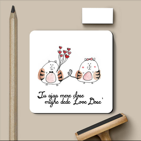 PosterGully Coasters, Love Dose Love Art | Simran Anand Coaster, - PosterGully