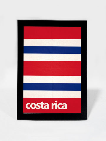 Glass Framed Posters, Costa Rica Soccer Team #footballfan Glass Framed Poster, - PosterGully - 1