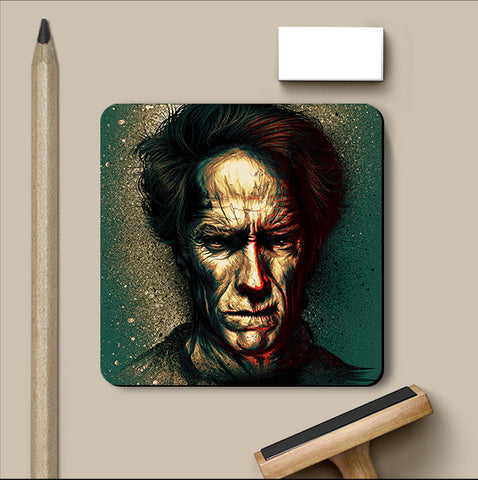 PosterGully Coasters, Clint Eastwood Artwork Coaster, - PosterGully
