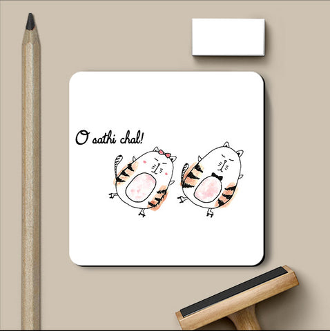 PosterGully Coasters, O Sathi Chal Love Art | Simran Anand Coaster, - PosterGully