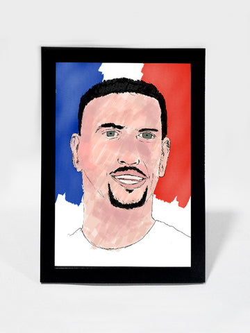 Glass Framed Posters, Franck Ribery Art Print Soccer #footballfan Glass Framed Poster, - PosterGully - 1