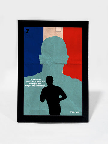 Glass Framed Posters, Franck Ribery Scars Quote #footballfan Glass Framed Poster, - PosterGully - 1