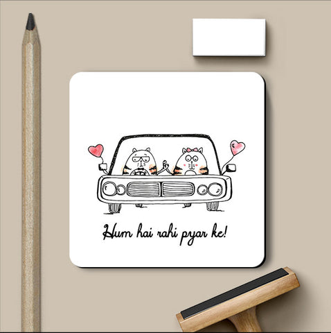 PosterGully Coasters, Pyar ke Rahi Love Art | Simran Anand Coaster, - PosterGully