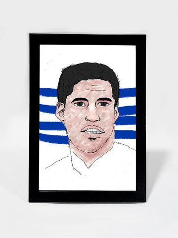 Framed Art, Luis Suárez Art Print Soccer #footballfan | Framed Art, - PosterGully