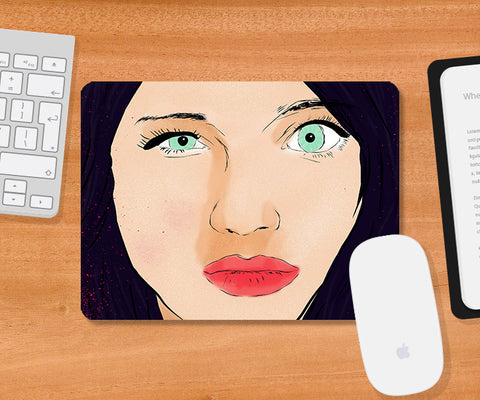 Mousepads, What The Hell Girl Mousepad, - PosterGully
