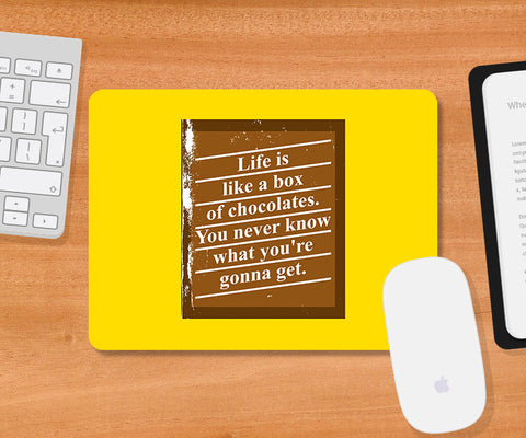 Mousepads, Box Of Chocolates Forrest Gump Mousepad, - PosterGully
