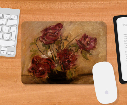 Mousepads, Red Flowers Painting Mousepad, - PosterGully
