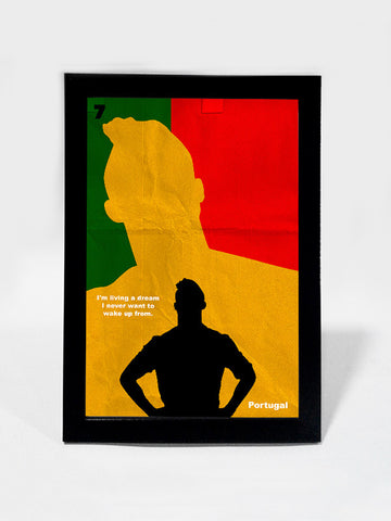 Glass Framed Posters, Ronaldo Living Portugal Soccer #footballfan Glass Framed Poster, - PosterGully - 1