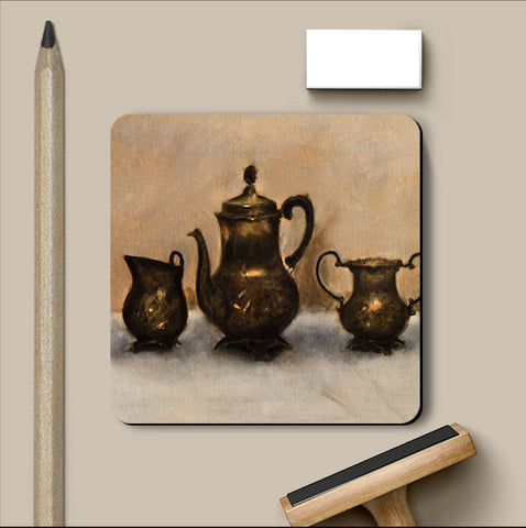 PosterGully Coasters, Antiques Oil Painting Coaster, - PosterGully