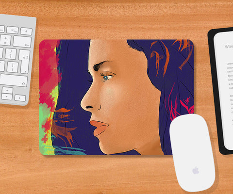 Mousepads, Girl Lost In Thoughts Mousepad, - PosterGully