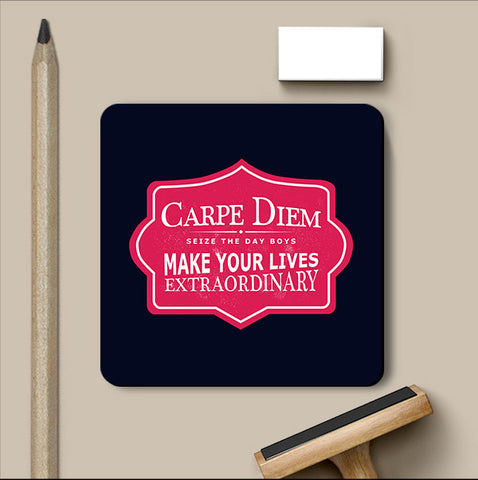 PosterGully Coasters, Carpe Diem Dead Poets Society Coaster, - PosterGully