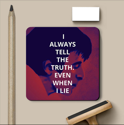 PosterGully Coasters, Truth And Lies Scarface Coaster, - PosterGully