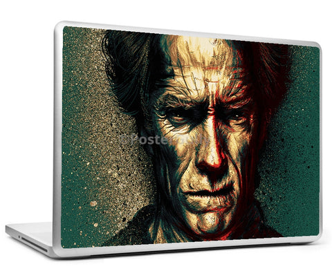 Laptop Skins, Clint Eastwood Artwork Laptop Skin, - PosterGully