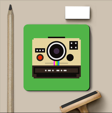 PosterGully Coasters, Polaroid Camera Pop Art Coaster, - PosterGully