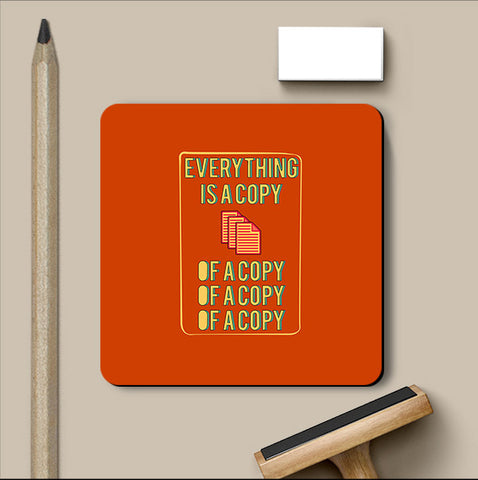 PosterGully Coasters, Everything Is A Copy Fight Club Coaster, - PosterGully