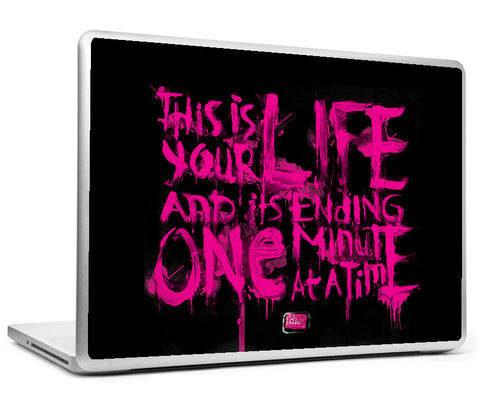 Laptop Skins, Fight Club Black & Purple Artwork Laptop Skin, - PosterGully
