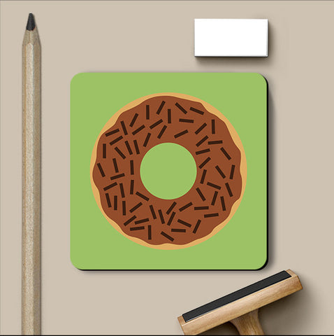 PosterGully Coasters, Chocolate Donut Coaster, - PosterGully