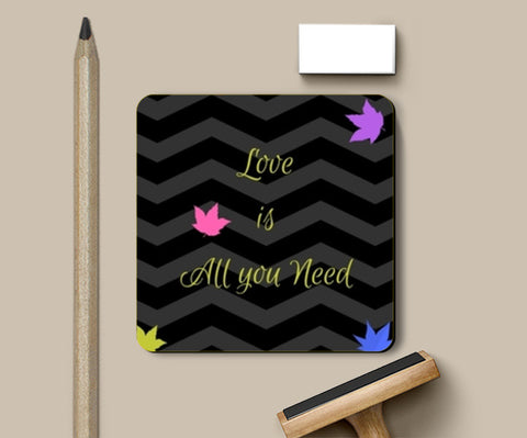 PosterGully Coasters, Love is All you need Coasters | Artist : Pallavi Rawal, - PosterGully